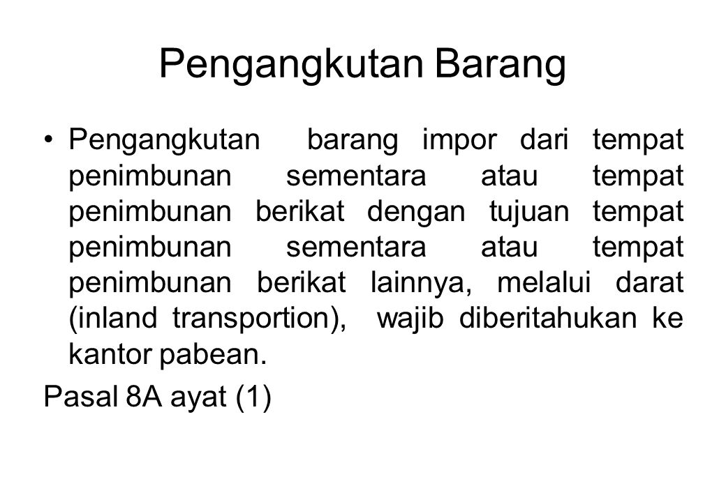 Pengangkutan Barang