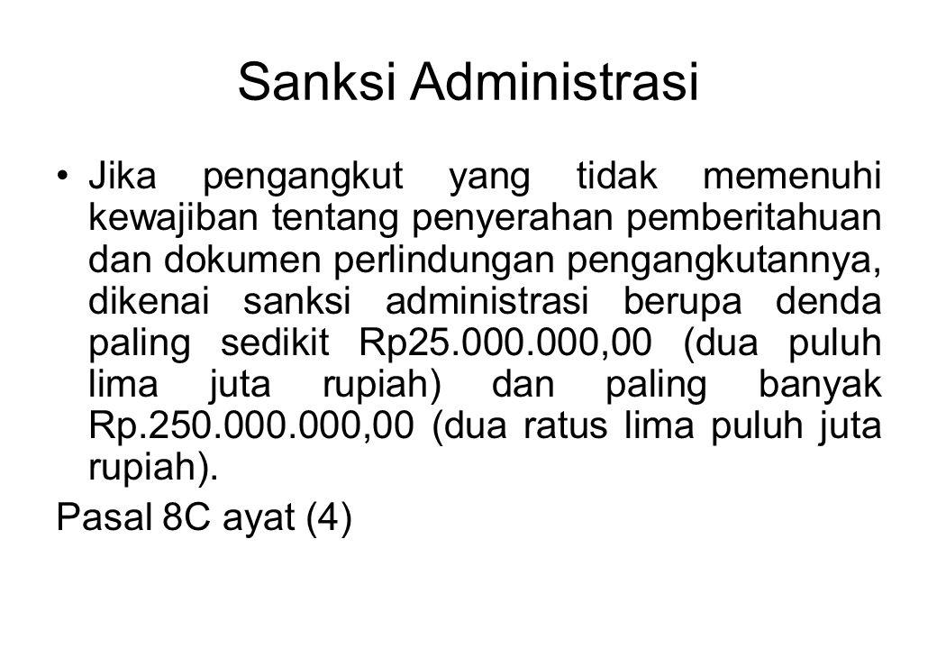 Sanksi Administrasi