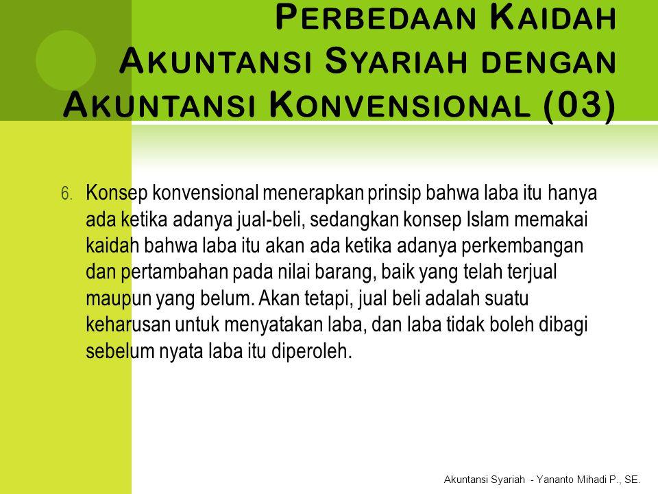Perbedaan Kaidah Akuntansi Syariah dengan Akuntansi Konvensional (03)