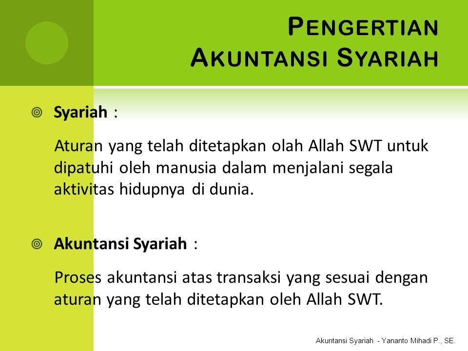 Pengertian Akuntansi Syariah