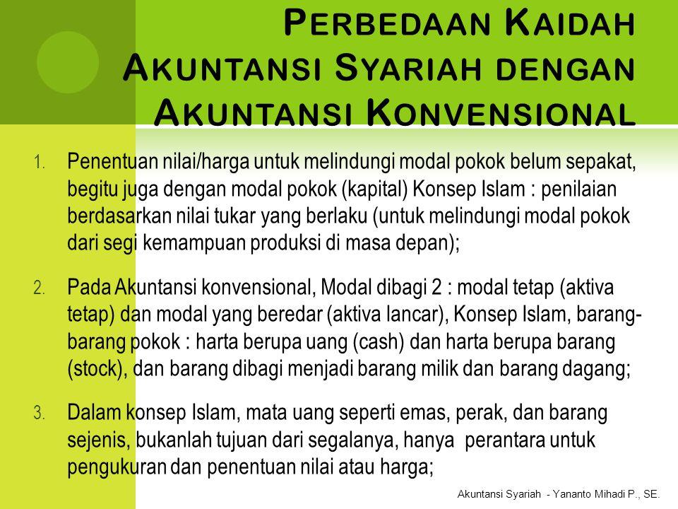 Perbedaan Kaidah Akuntansi Syariah dengan Akuntansi Konvensional