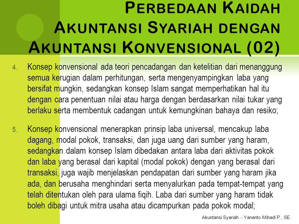 Perbedaan Kaidah Akuntansi Syariah dengan Akuntansi Konvensional (02)