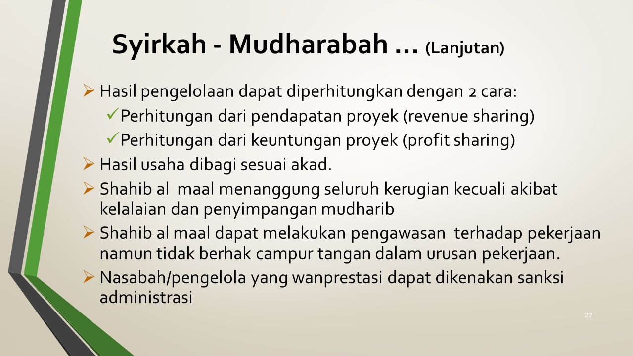 Syirkah - Mudharabah ... (Lanjutan)