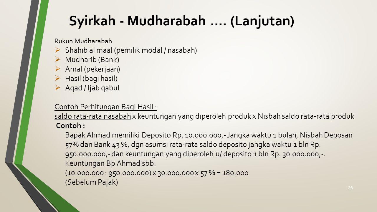 Syirkah - Mudharabah .... (Lanjutan)