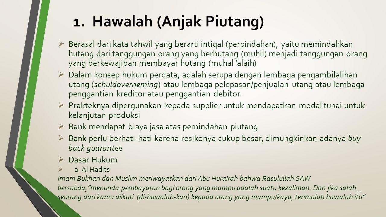 1. Hawalah (Anjak Piutang)
