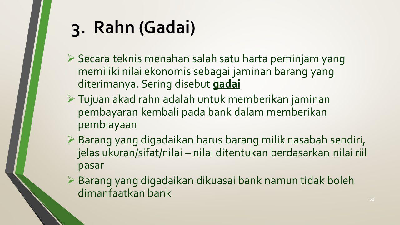 3. Rahn (Gadai)
