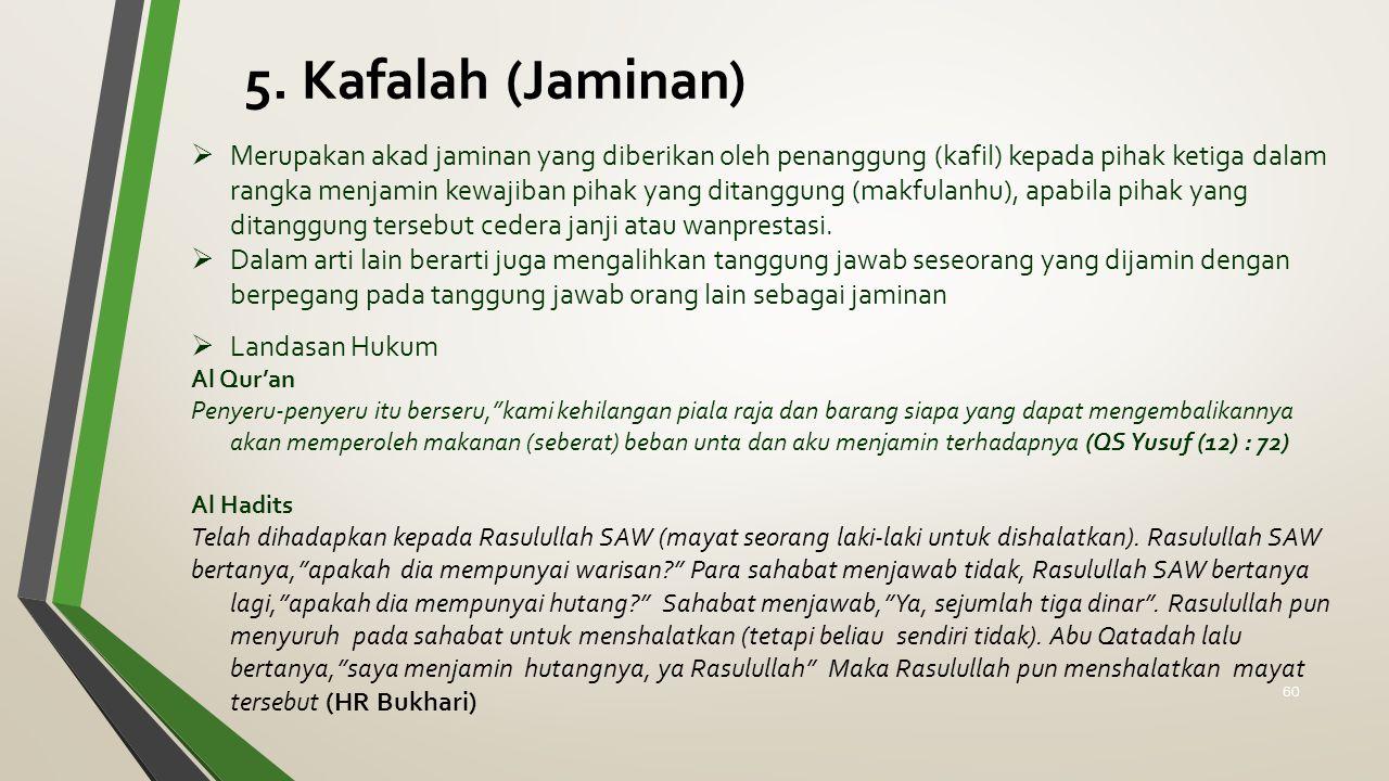 5. Kafalah (Jaminan)