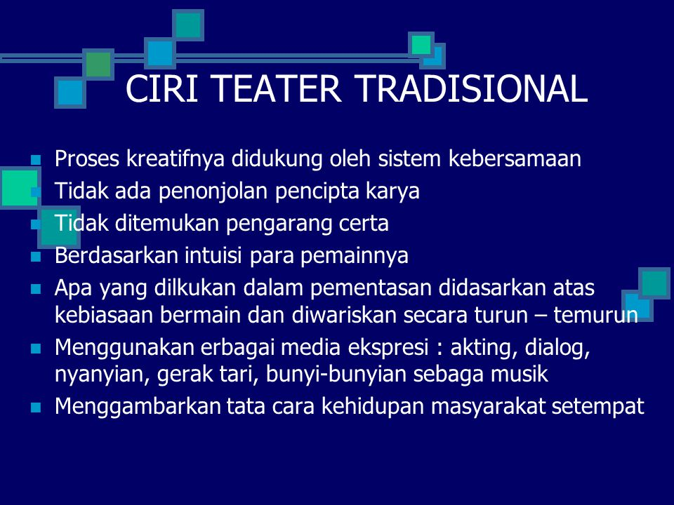 CIRI TEATER TRADISIONAL