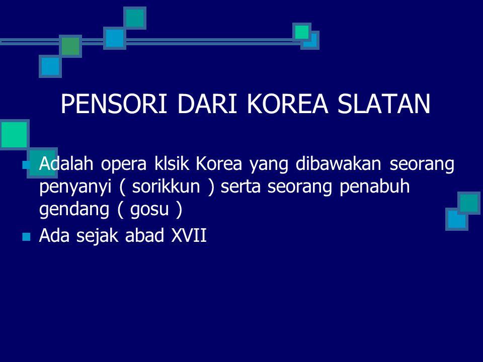 PENSORI DARI KOREA SLATAN
