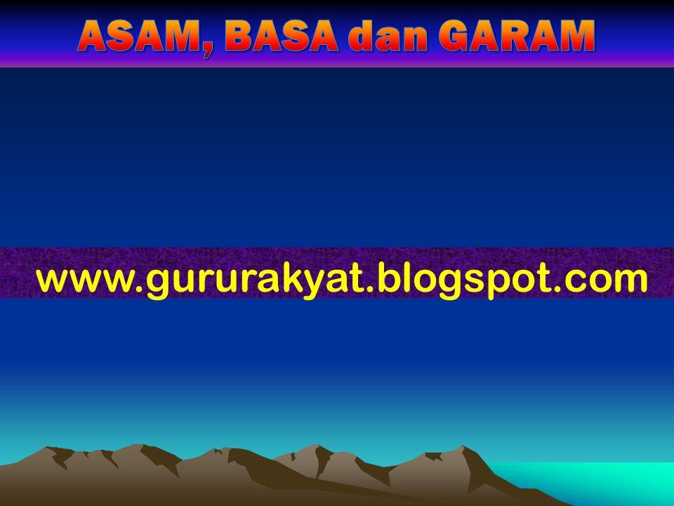 ASAM, BASA dan GARAM www.gururakyat.blogspot.com