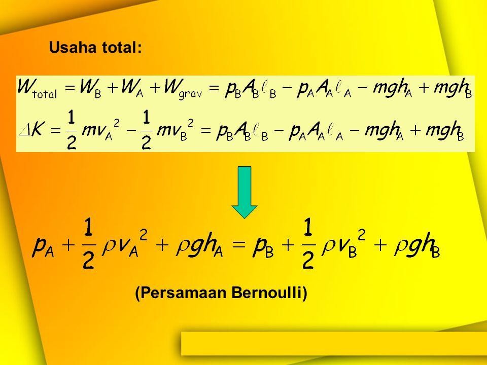 (Persamaan Bernoulli)
