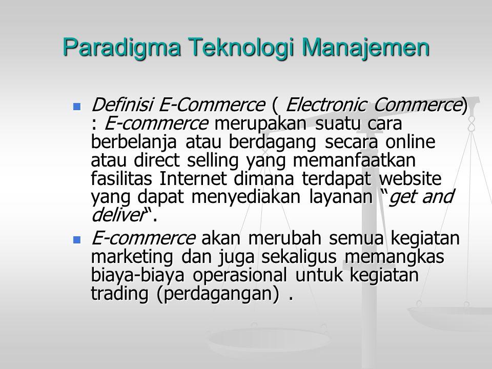 Paradigma Teknologi Manajemen