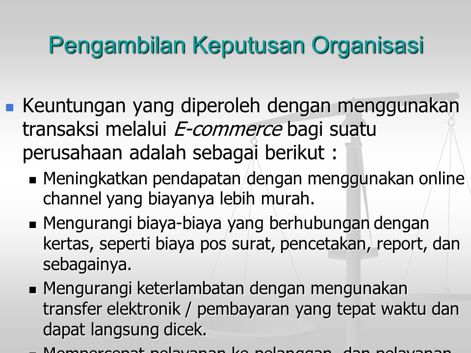 Pengambilan Keputusan Organisasi
