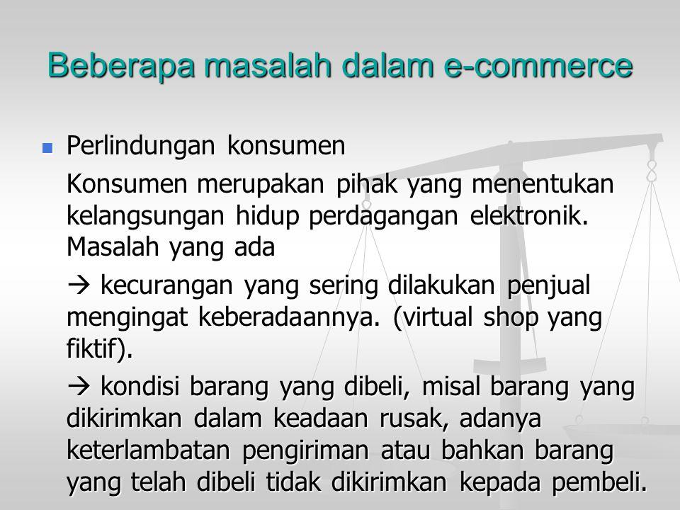 Beberapa masalah dalam e-commerce