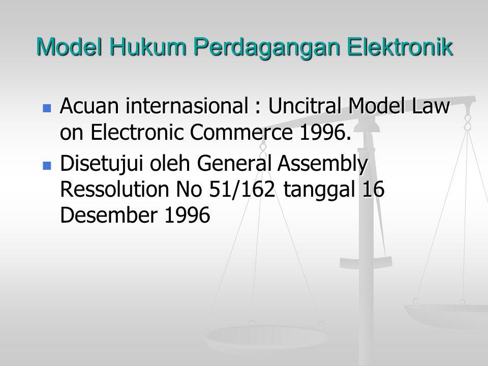 Model Hukum Perdagangan Elektronik