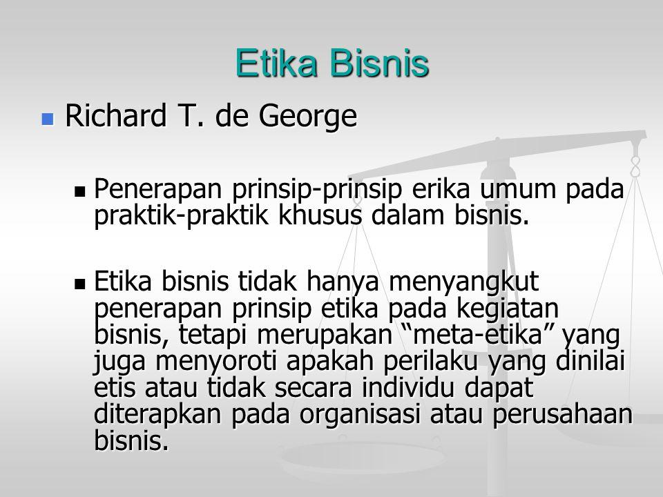 Etika Bisnis Richard T. de George