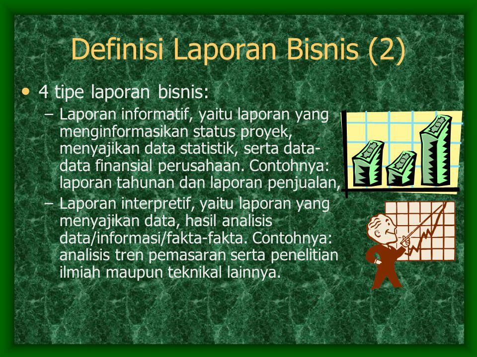 Definisi Laporan Bisnis (2)