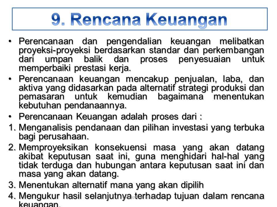 9. Rencana Keuangan