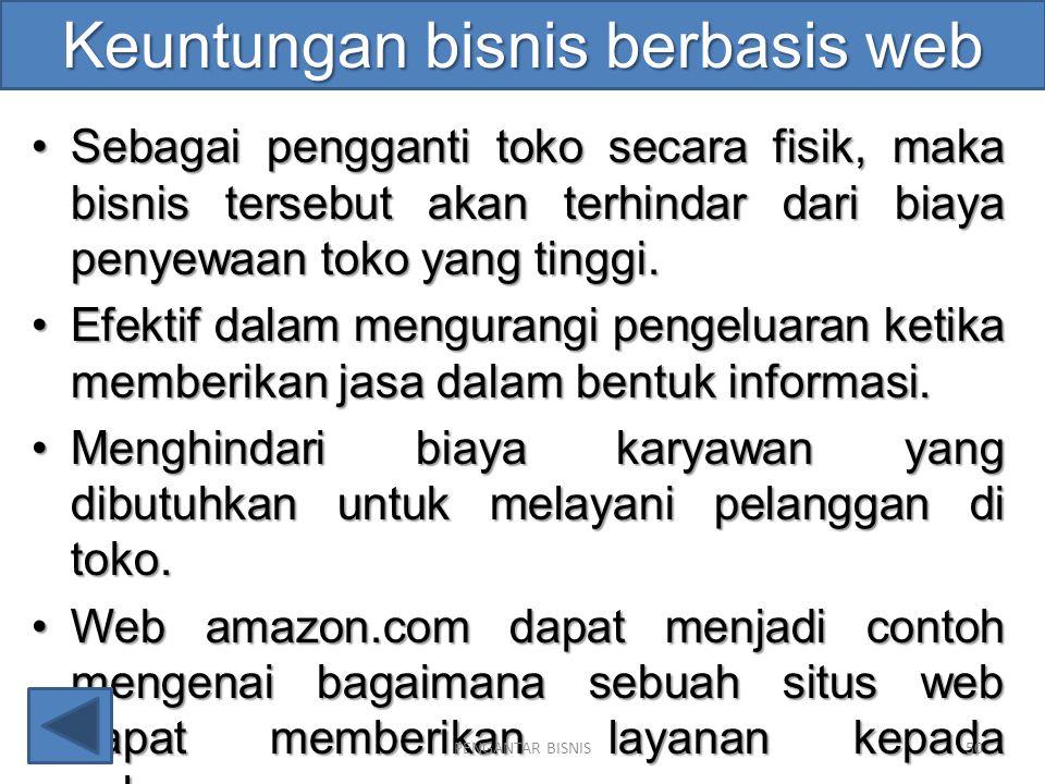 Keuntungan bisnis berbasis web
