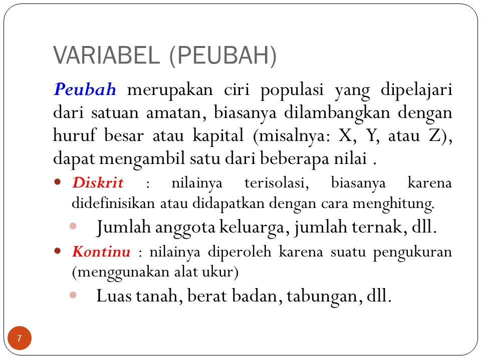 VARIABEL (PEUBAH)