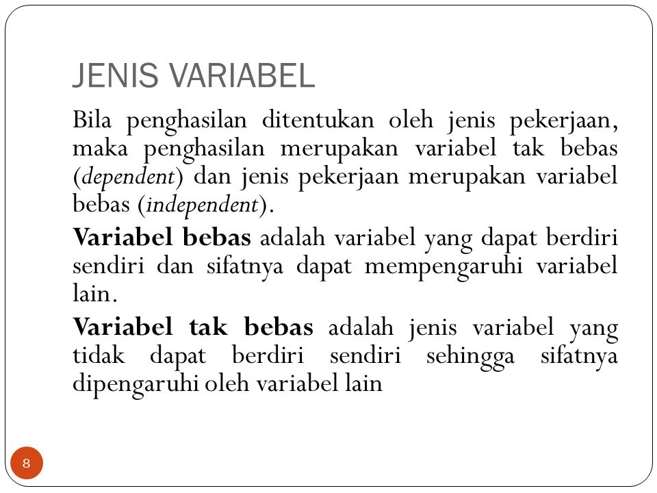 JENIS VARIABEL