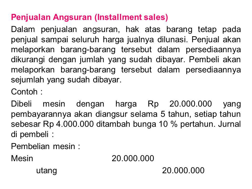 Penjualan Angsuran (Installment sales)