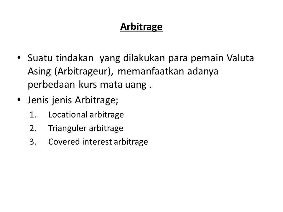 Jenis jenis Arbitrage;