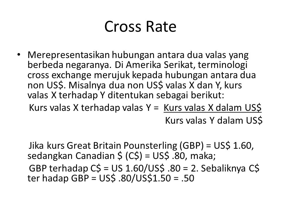 Cross Rate