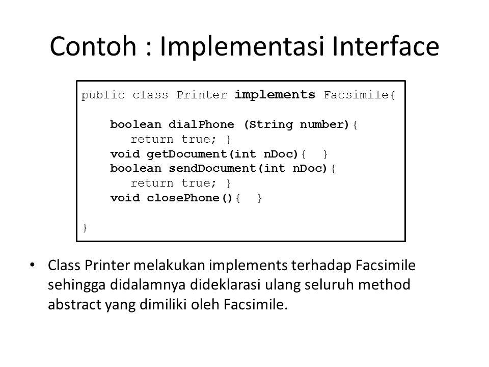 Contoh : Implementasi Interface