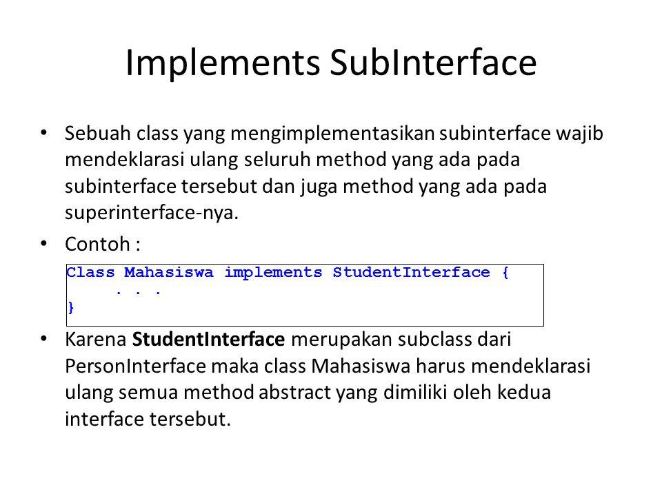Implements SubInterface
