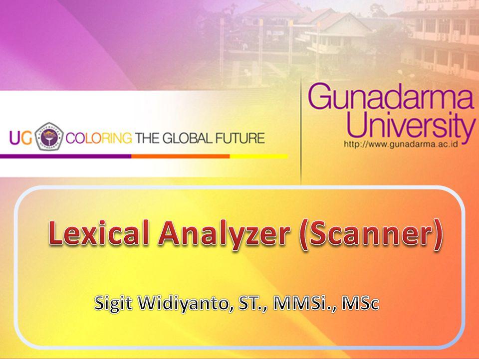 Lexical Analyzer (Scanner)
