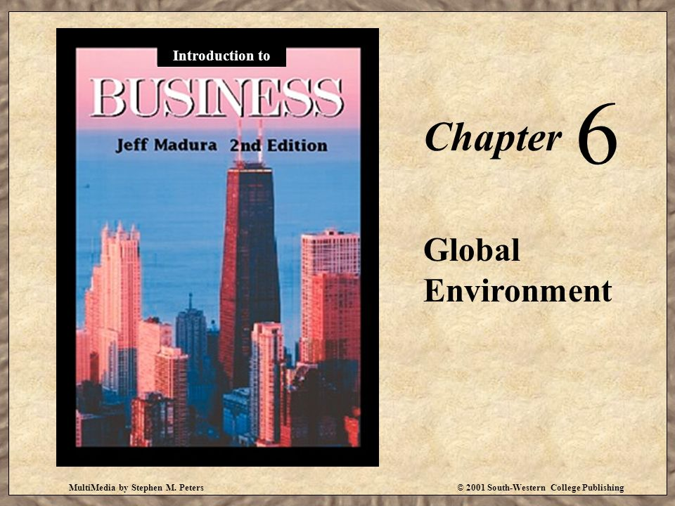 6 Chapter Global Environment Introduction to