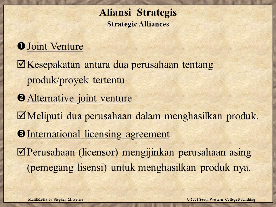 Aliansi Strategis Strategic Alliances
