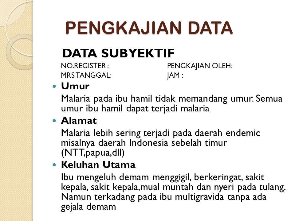PENGKAJIAN DATA DATA SUBYEKTIF Umur