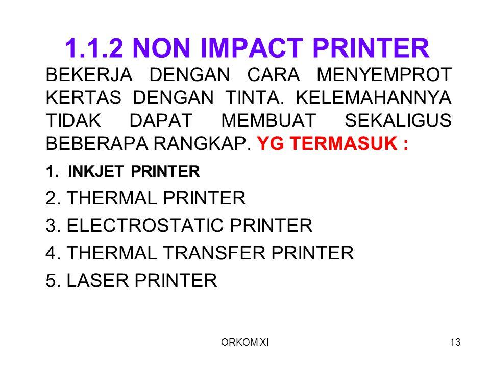 1.1.2 NON IMPACT PRINTER