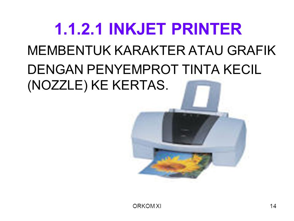 1.1.2.1 INKJET PRINTER MEMBENTUK KARAKTER ATAU GRAFIK