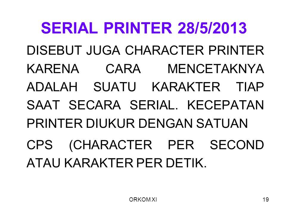 SERIAL PRINTER 28/5/2013
