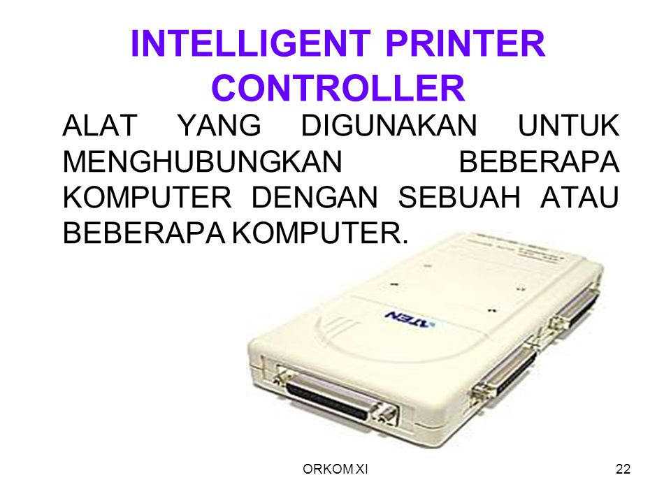 INTELLIGENT PRINTER CONTROLLER