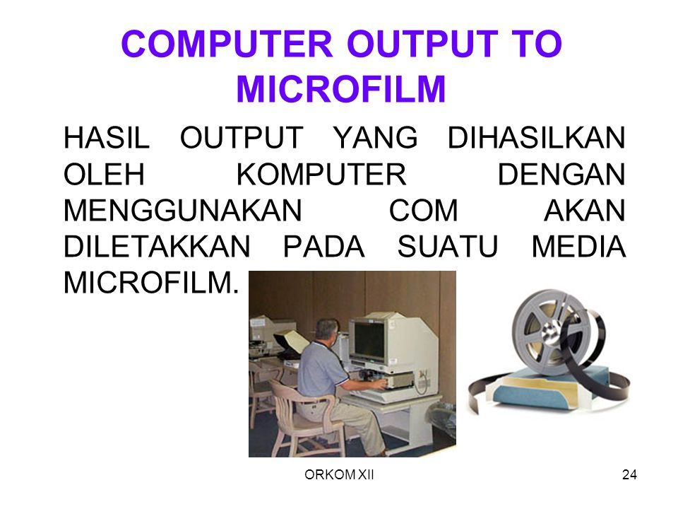 COMPUTER OUTPUT TO MICROFILM
