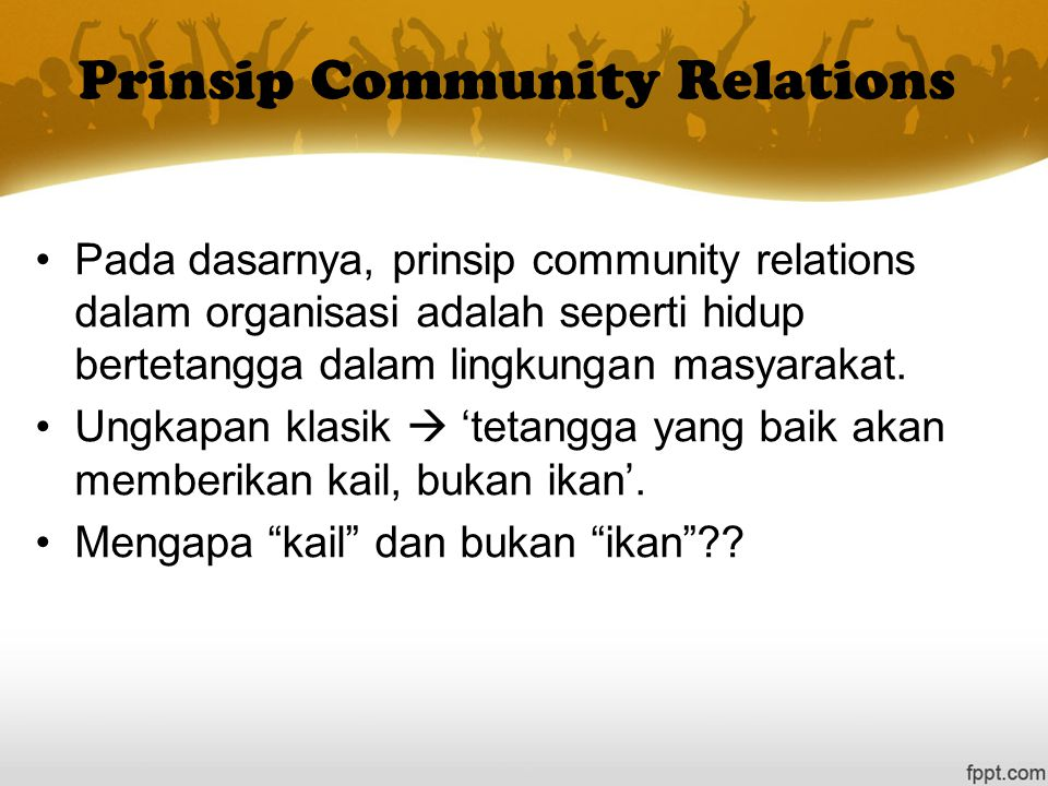 Prinsip Community Relations