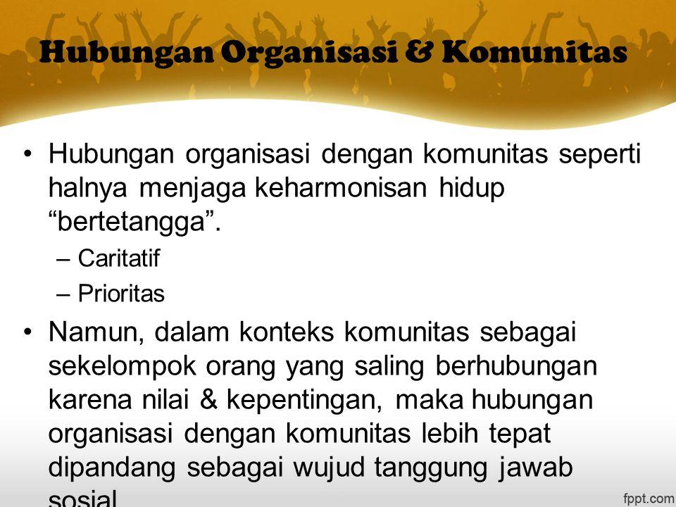Hubungan Organisasi & Komunitas