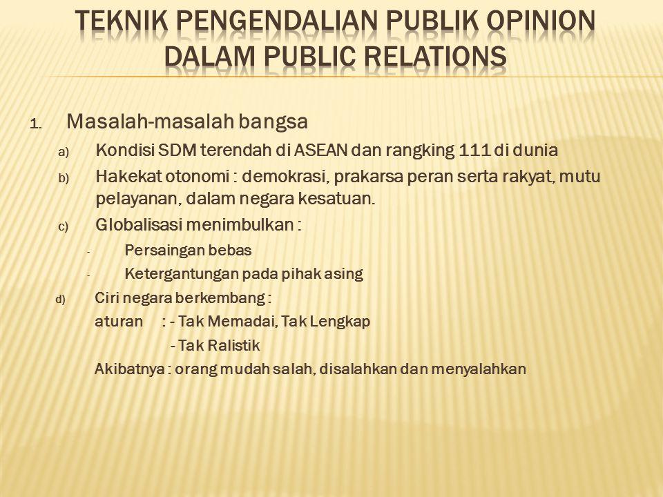 TEKNIK PENGENDALIAN PUBLIK OPINION DALAM PUBLIC RELATIONS