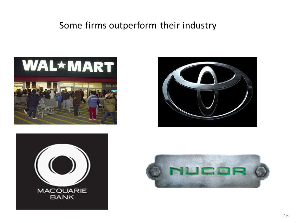 Some firms outperform their industry