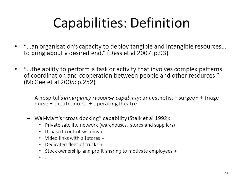 Capabilities: Definition