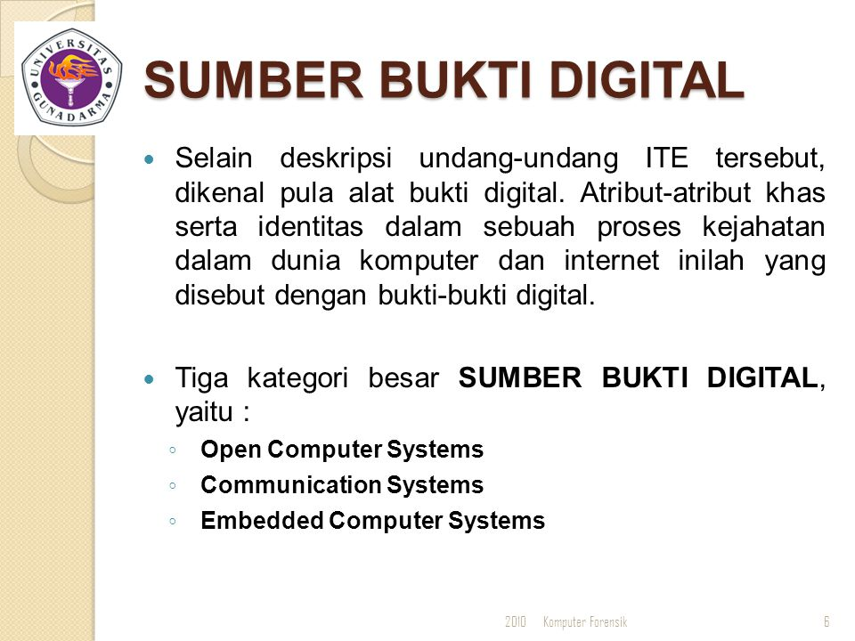 SUMBER BUKTI DIGITAL