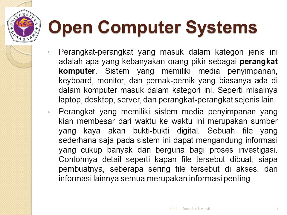 Open Computer Systems