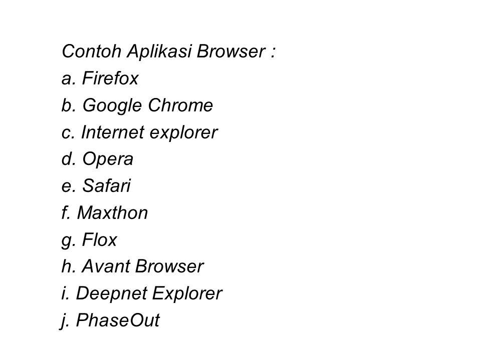 Contoh Aplikasi Browser :