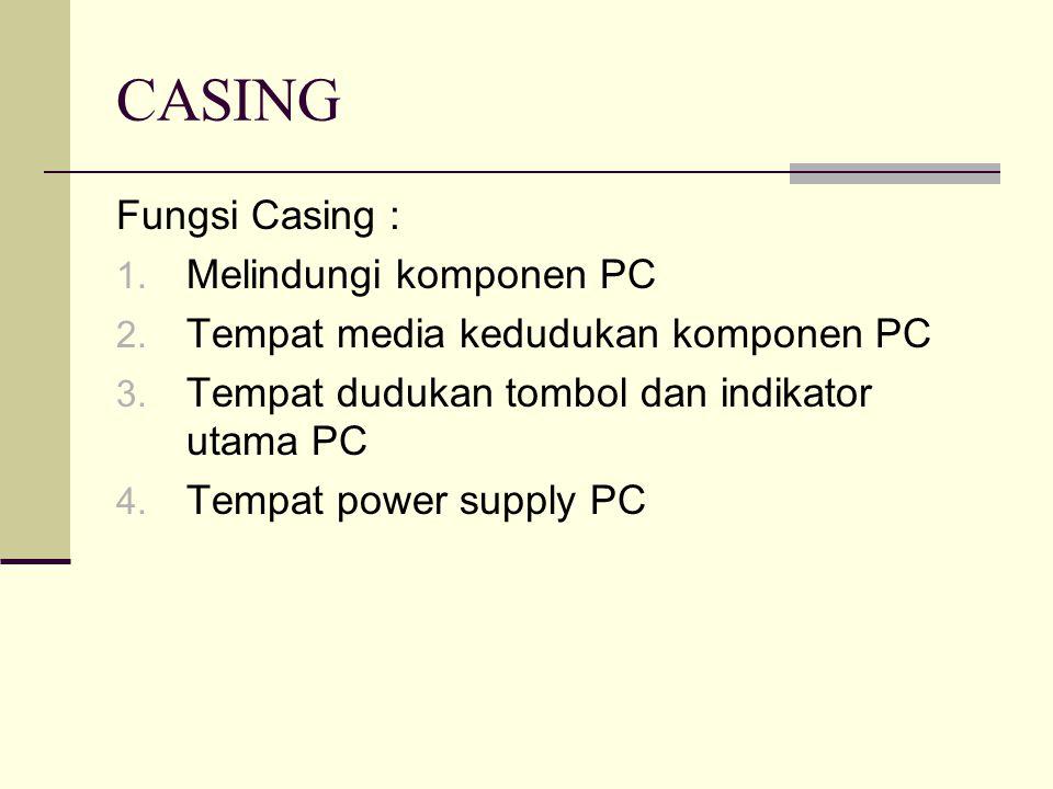 CASING Fungsi Casing : Melindungi komponen PC