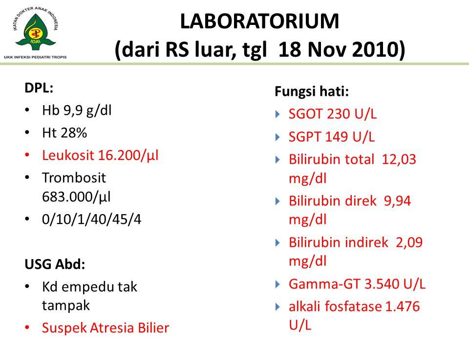 LABORATORIUM (dari RS luar, tgl 18 Nov 2010)