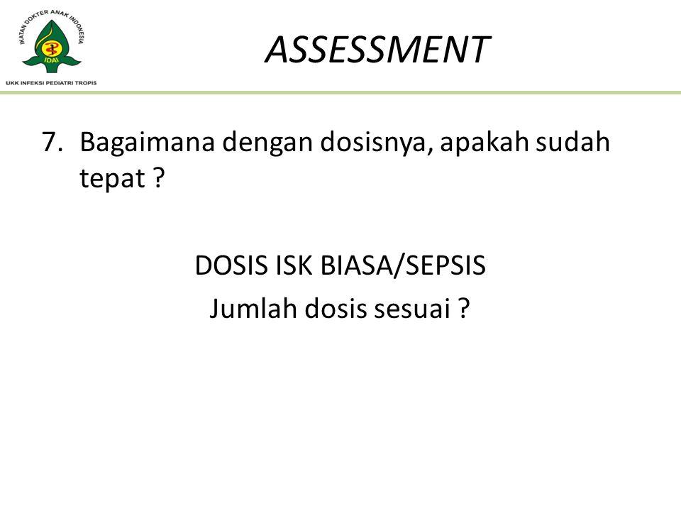 DOSIS ISK BIASA/SEPSIS
